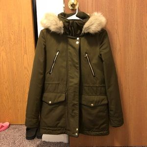 Zara hoodied Parka Down Jacket